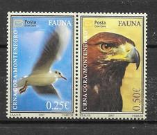 Montenegro 2007 Mi.No. 141 - 142 Birds Eagles 2v MNH**  1,50 € - Montenegro