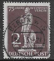 Germany, West Berlin, 1949, 75th Anniversary Of U.P.U., 2 DM, Used BERLIN 19.1.51, C.d.s. - Used Stamps