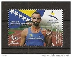 BOSNIA AND HERZEGOVINA  2015,SPORT, 800M,BRONZE IN BEIJING,AMEL TUKA,,MNH - Leichtathletik