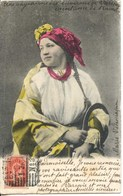 1216 - Pologne - PAYSANNE DES ENVIRONS DE VARSOVIE - COSTUME DE TRAVAIL  -  Circulée En 1903 - Poland