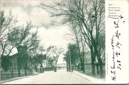 Iowa Davenport Entrance To Rock Island Arsenal 1906 - Davenport
