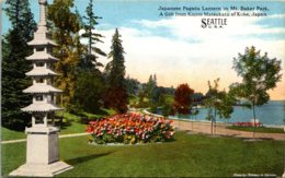 Washington Seattle Mt Baker Park Japanese Pagoda Lantern Gift Of Kojiro Matsukatu Of Kobe Japan Curteich - Seattle