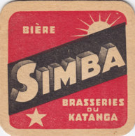 "Congo - Sous-bock ""BIERE SIMBA BRASSERIE DU KATANGA"" - Beer Mats"