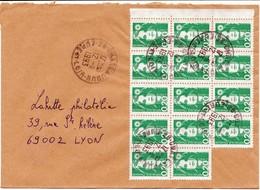 EURE ET LOIR ENV 1993 CHATEAUDUN MARIANNE BRIAT BLOC DE 14 DU 0,20 (2F80) - Marcophilie (Lettres)
