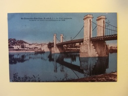 Saint Romain Des îles Le Pont Suspendu - France