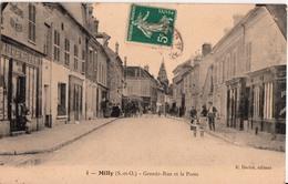 MILLY-GRANDE RUE ET LA POSTE - Milly La Foret
