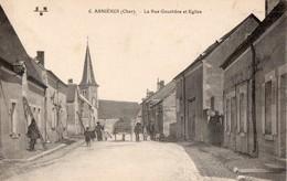 CPA  - 18 - ASNIERES - La Rue Gauchère Et Eglise - France