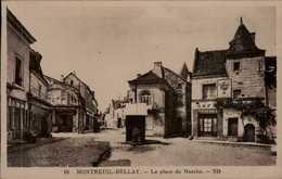 49-MONTREUIL BELLAY..LA PLACE DU MARCHE...CPA - Montreuil Bellay