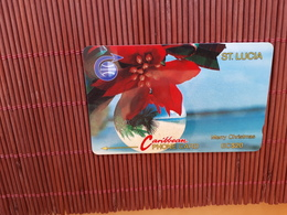 Phonecard Christmas ST. Lucia Number 5CLSA Used Rare - St. Lucia