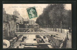 CPA Granville, La Riviére Du Cours, Les Laveuses - Granville