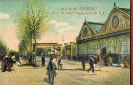 BARCELONA  - R.S.A 69- Paseo De Isabel II Y Estacion M.Z.A - Scans Recto Verso - Barcelona