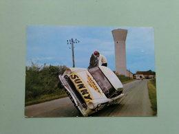 Equipe Jean SUNNY - Cascadeur - ORLEANS - Auto Voiture Car Simca Versailles à Bigny Vallenay (Cher) - Cartes Postales
