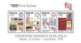 93867) ITALIA-Esposizione Mondiale Di Filatelia, A Milano - BLOCCO FOGLIETTO - 21 Marzo 1997  -MNH** - Blocks & Sheetlets
