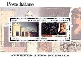 93869) ITALIA-Avvento Dell'anno 2000, L'arte E La Scienza - BLOCCO FOGLIETTO - 4 Marzo 2000-MNH** - Blocks & Sheetlets