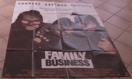 AFFICHE CINEMA ORIGINALE FILM FAMILY BUSINESS LUMET CONNERY HOFFMAN BRODERICK 1989 TBE - Posters