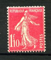 238 - 1F10 Rose Semeuse - Neuf N** - Très Beau - 1906-38 Sower - Cameo