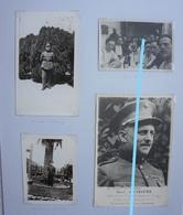 Photo3 + 1 Mortuaire Officier 2ème De Ligne Mort Au Camp De Concentration De Gross Rozen 1944 Belgische Leger Arméebelge - Guerre, Militaire