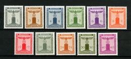 ALLEMAGNE (Empire) - YT (Service)  116 / 126 - Série Complète 11 Valeurs - Neufs N** (sauf 126 : NSG) - Très Beaux - Service