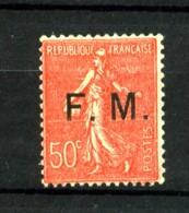 FM  6 - 50c Rouge Semeuse Lignée - Neuf N** - Très Beau (infimes Adhérences Verso) - Franchigia Militare (francobolli)