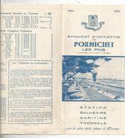 Dépliant Touristique, PORNICHET Les Pins,  ,6 Pages, 2 Scans , 1964, Plan ,hôtels, Frais Fr 1.45 E - Dépliants Touristiques