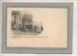 CPA - (63) CHATEL-GUYON - Paysanne à La Fontaine-Abreuvoir Avec Sa Vache En 1902 - Carte Précurseur - Châtel-Guyon