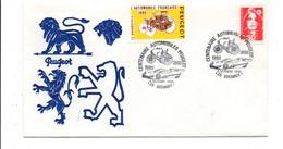 CENTENAIRE DES AUTOMOBILES PEUGEOT SOCHAUX 1990 - Bolli Commemorativi