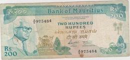 Ile Maurice - Billet De 200 Rupees - Seewoodsagur Ramgoolam - Non Daté (1985) - P39 - Mauritius