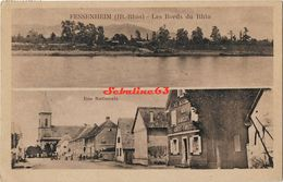 Fessenheim - Les Bords Du Rhin - Rue Nationale - 1951 - Fessenheim
