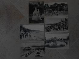 Nice  6 CPA Statue Victoria, Fontaine Tritons, Casino, Jetée Promenade, Quai Du Midi, Promenade Des Anglais - Sets And Collections