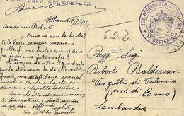 CARTOLINA  ILLUSTRATA POSTA MILITARE N. 2 ALBANIA 1916 BESTROVA X VERGOBBIO - 1900-44 Victor Emmanuel III.