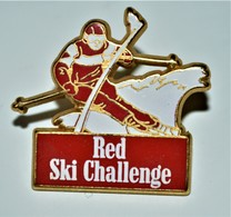 Rare Pin's Arthus Bertrand Red Ski Challenge - Arthus Bertrand