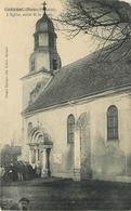 CABANAC - L'église, Sortie De Messe. - Autres Communes