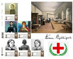 Ukraine 2018, England Medicine, Nurse Florence Nightingale, Sheetlet Of 6v - Ukraine