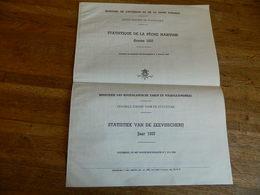 BELGIQUE:STATISTIQUE DE LA PECHE MARITIME DE 1937-PORT DE PECHE OSTENDE BLANKENBERGHE +POISSONS PECHES - Cultural