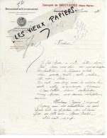 52 - Haute-marne - BREUVANNES - Facture BRASSERIE DE VAUCOULEURS - 1928 - REF 146A - 1900 – 1949