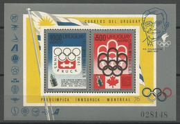 Uruguay,On The Eve Of SOG-Montreal '76 1975.,block,MNH - Uruguay