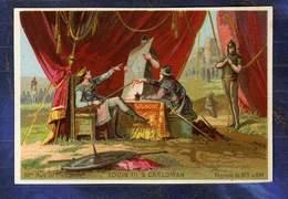 Chromo 28ème Roi De France King Louis III & Carloman Stratégie Trade Card 1890 - Non Classificati