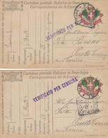 "9812-N°. 2 FRANCHIGIE 1° GUERRA-""POSTA MILITARE-76"" - 1917 - Marcophilia"
