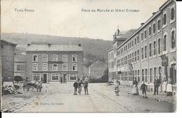 Trois-Ponts - Place Du Marché Et Hôtel Crismer - F. Desaix, Aywaille - Circulé: 1911 - Etat: Voir 2 Scans. - Trois-Ponts