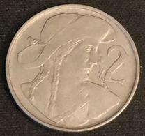 TCHECOSLOVAQUIE - Czechoslovakia - 2 KORUN 1947 - KM 23 - Tchécoslovaquie