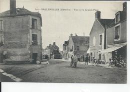 SALLENELLES   Vue Sur La Grande Place  1918 - France