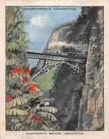 """CHINE  -  Etiquette Publicitaire Des Gigatettes """" CHURCHMAN'S """" -  FAUX-NAMTI  - Train Sur Le Pont - Voir Description - China"""