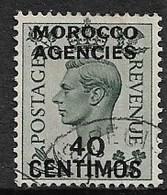 MOROCCO AGENCIES 1940 40c On 4d SG 169 FINE USED Cat £17 - Oficinas En  Marruecos / Tanger : (...-1958