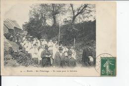 BIVILLE   Un Pelerinage  En Route Pour Le Calvaire 1907 - France