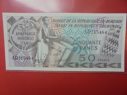 BURUNDI 50 FRANCS 1977 WPM N°28a PEU CIRCULER/NEUF (B.12) - Burundi