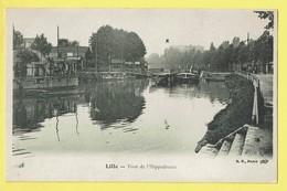 * Lille (Dép 59 - Nord - France) * (B.F. Paris, Nr 48) Pont De L'hippodrome, Bateau, Boat, Canal, Quai, Péniche, Old - Lille