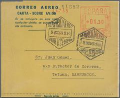 Spanien - Ganzsachen: 1880/1990 Ca. 230 Letters, Cards, Picture-postcards And Postal Stationeries, I - Interi Postali