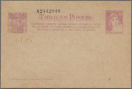Spanien - Ganzsachen: 1937, Stat. Postcard 'Matrona' 25c. Lilac With Additional Three-line Annotatio - Interi Postali