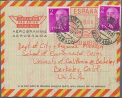 Spanien - Ganzsachen: 1959/75 Holding Of Ca. 710 Mostly Unused Aerograms, Besides, Numbered Aerogram - Interi Postali