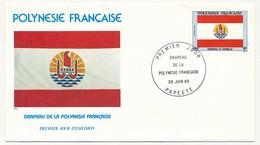 POLYNESIE FRANCAISE - 1  FDC - Drapeau De La Polynésie + Timbre Type, Neuf - FDC